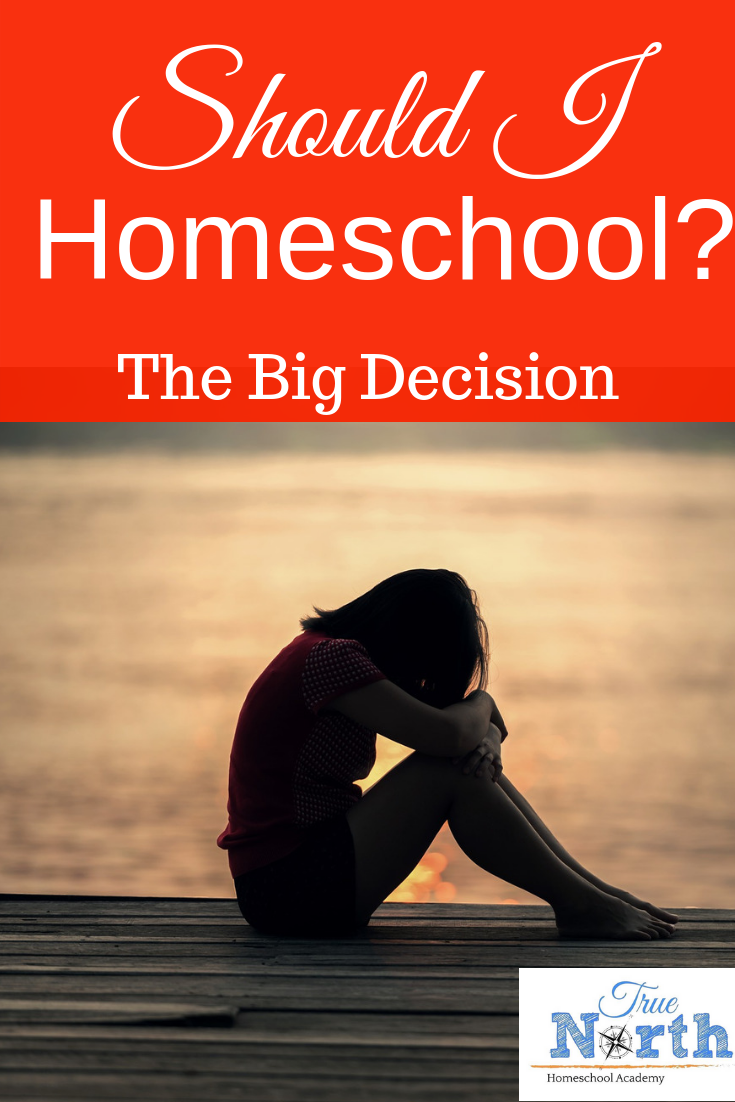 Should I homeschool? It's a question that many parents face at one time or another. Check out these easy questions to determine if you should homeschool.  #homeschool #newhomeschoolers #TrueNorthHomeschoolAcademy