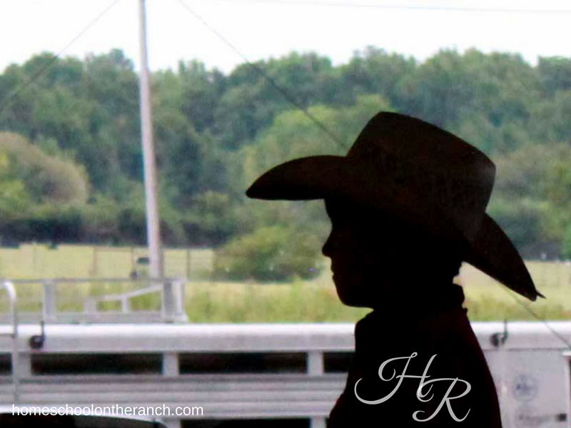 Rodeo as a Homeschool Elective - Silhouette of a child at rodeo