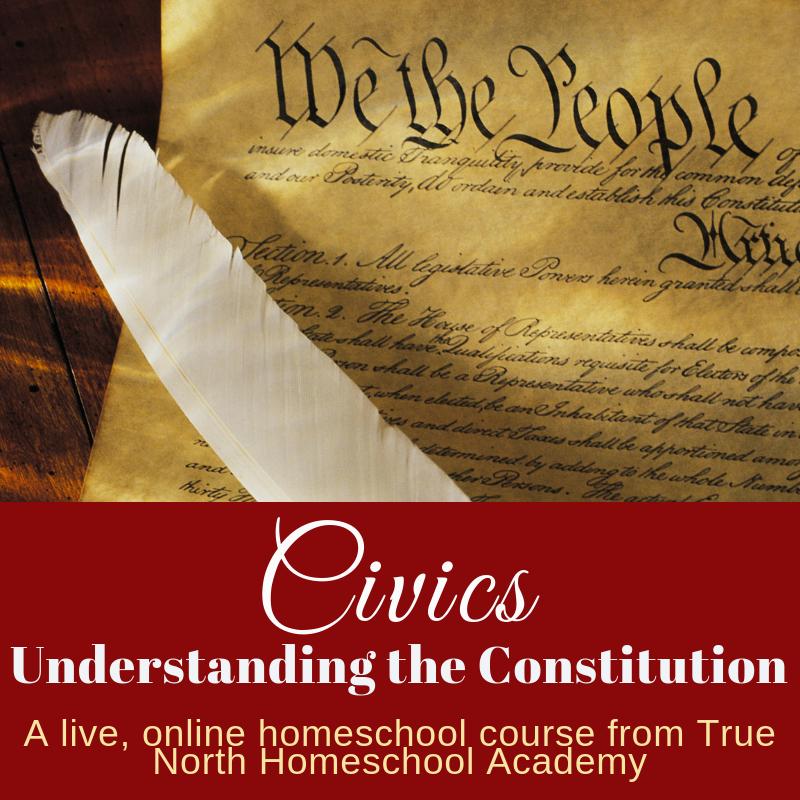 Civics, understanding the constitution, a CLEP prep course from True North Homeschool Academy