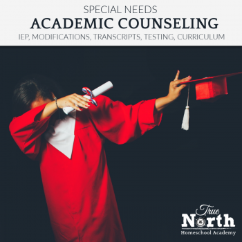 Special Needs Academic Advising, including IEP, curriculum direction, accomodations, modifications and more!