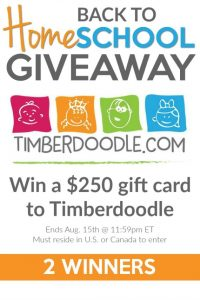 Homeschool Give-Away, Timberdoodle