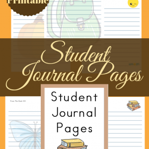 Are you looking for a free student journal designed with your homeschool in mind? Check out these 20 plus printable pages of themed writing paper today! #homeschool #writing #TrueNorthHomeschoolAcademy