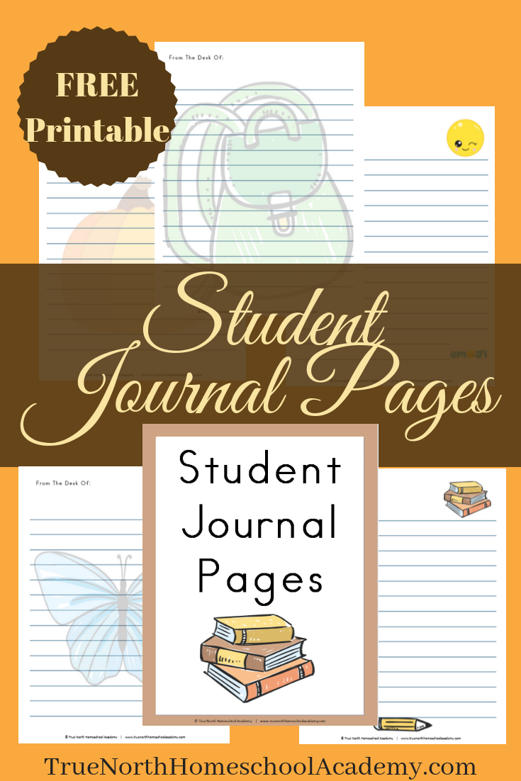 picture regarding Printable Journal Paper called No cost Printable Scholar Magazine Internet pages Correct North Homeschool