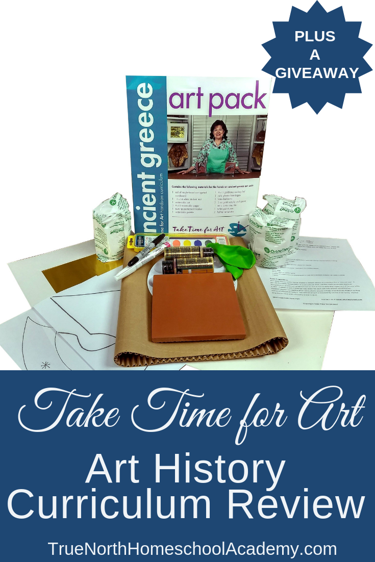 Are you guilty of letting art fall through the cracks of your homeschool? Then check out this Take Time for Art review from True North Homeschool Academy. Add art back into your homeschool today! #homeschooling #TrueNorthHomeschoolAcademy #art