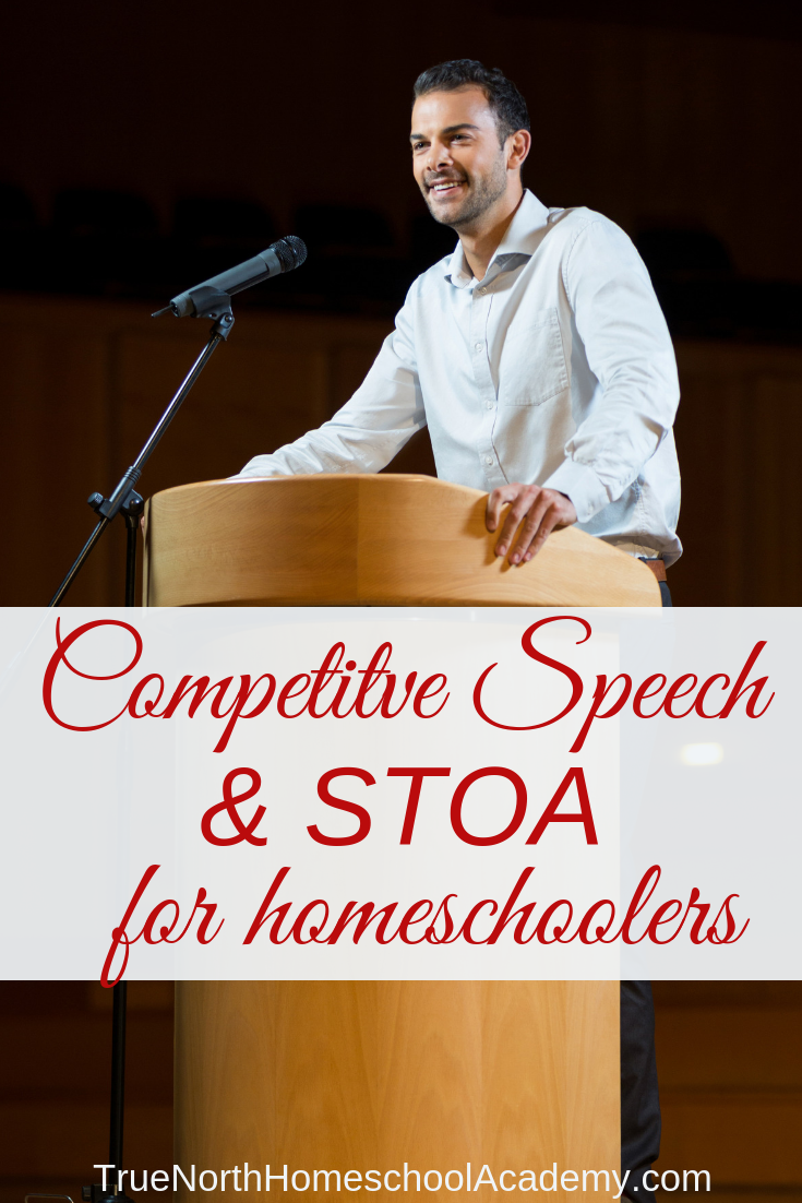 Is your high school student fully prepared to enter the real world? One of the most important aspect of real-world training is communication! See how competitive speech can help your highschooler become a well-rounded adult. #homeschool #highschool #TrueNorthHomeschoolAcademy