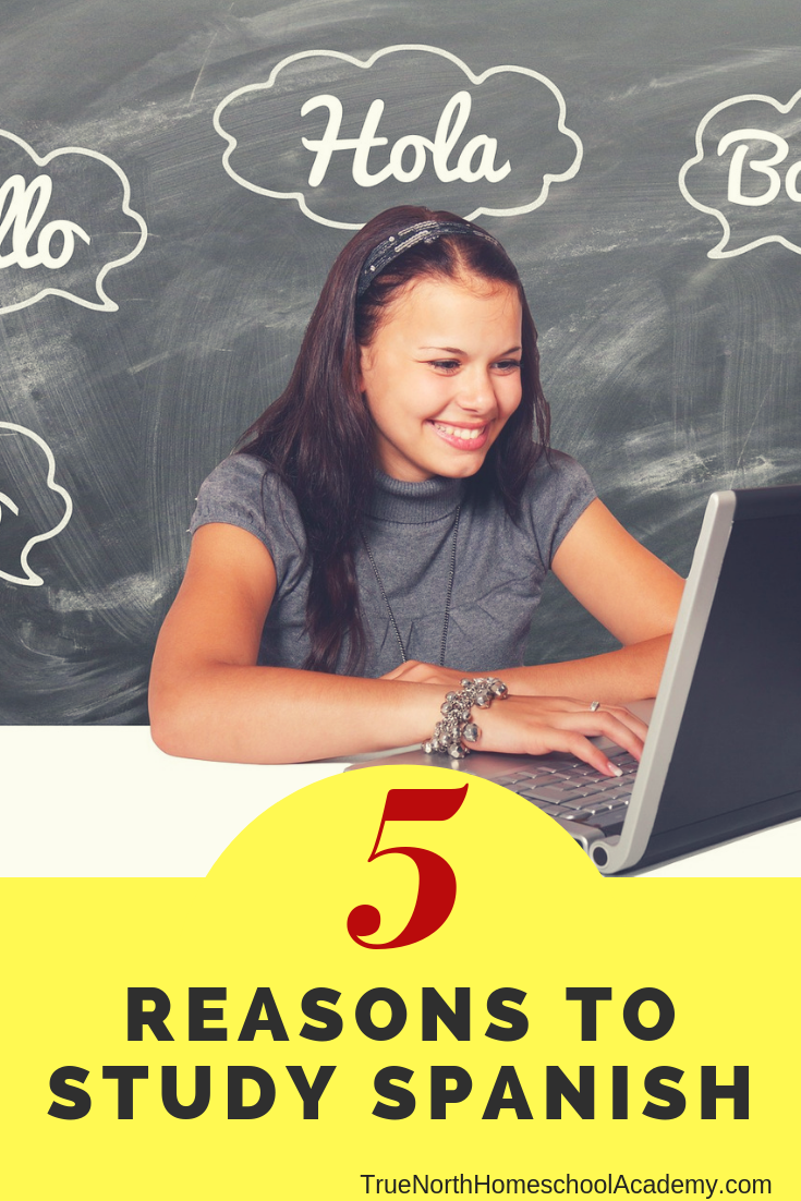 Are you wondering why your child needs to learn a foreign language? Check out five reasons to learn a foreign language from True North Homeschool Academy! #homeschooling #Spanish #homeschoolcourses #TrueNorthHomeschoolAcademy