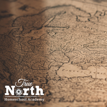 Classical Antique Map Background for True North Homeschool Academy Online Class Memory Claritas Cycle III