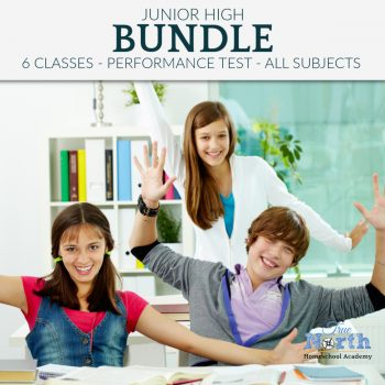 Online live classes for middle school students of True North Homeschool Academy