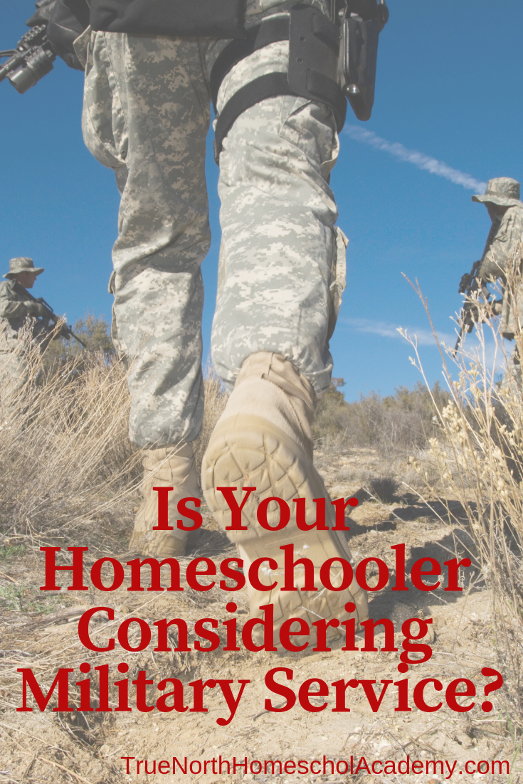 Is your homeschooler considering military service after graduation? What do they need to know and what questions should they ask? Check out our top tips for pursuing the military after graduation! #military #homeschool #homeschooling #TrueNorthHomeschoolAcademy