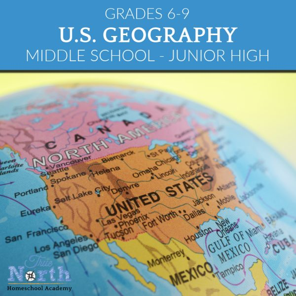 USA Geography class for homeschoolers in grades 6-9