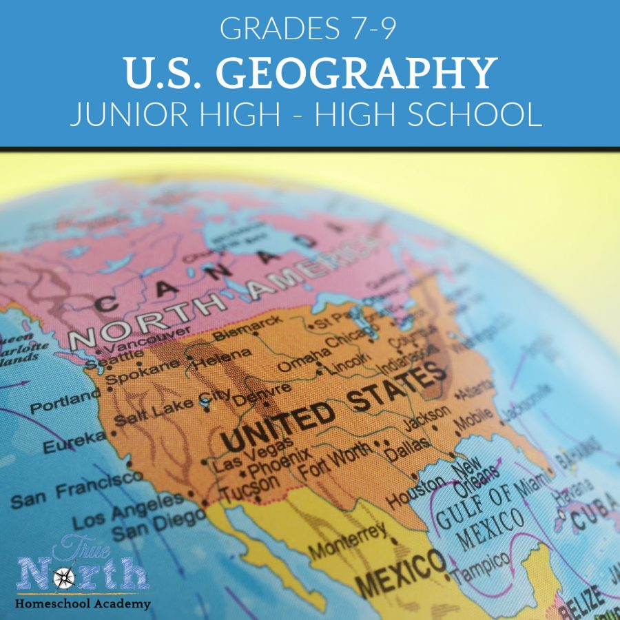 TNHA Product Image US Geography full year course for jjunionr and senior high students online