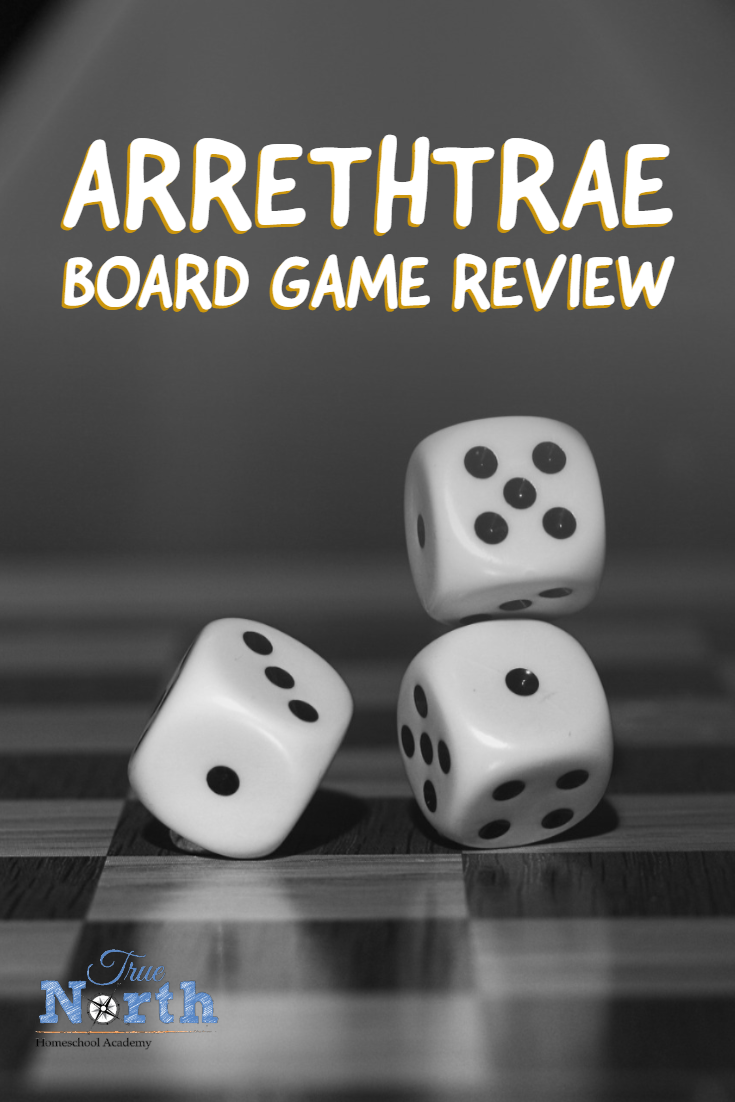 Are you interested in the board game Arrethtrae?  Check out our in-depth review of the board game based on the books by Chuck Black. #homeschool #gamereview #Arrethtrae