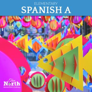 Online live classes for Elementary students of True North Homeschool Academy - Beginning Spanish