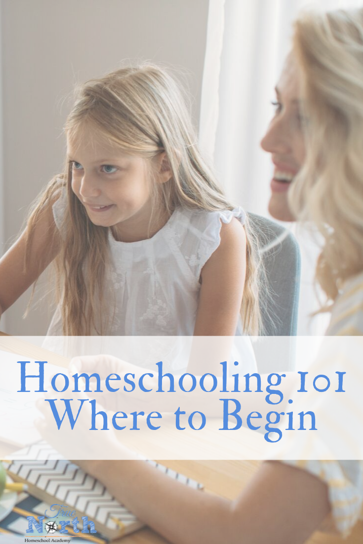 Are you curious about starting to homeschool, but unsure where to begin? Look no further! Whether you are a seasoned homeschooler or a brand new momma starting out, we have some great info for you! Check out our Homeschooling 101 tips! #TrueNorthHomeschoolAcademy #homeschooltips #homeschoolmom #newhomeschooler