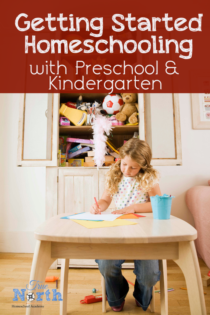 Are you considering making the homeschooling leap with your preschool or kindergarten child? Do you feel overwhelmed and under prepared? Let's us help you! At True North Homeschool Academy we strive to make your homeschool journey a success while fighting your overwhelm. Check out these great tips on homeschooling preschoolers and kindergartners. #TrueNorthHomeschoolAcademy #homeschoolingpreschool #homeschoolingkindergarten #newhomeschooler