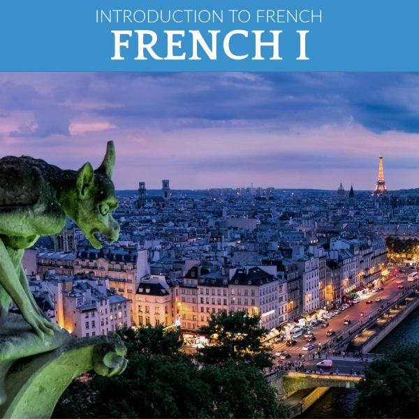 A Gargoyle in the foreground and the Eiffel tower in the background for an image for learning French online with live classes