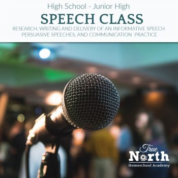 Speech class live interactive for homeschoolers to practice writing and performing speeches