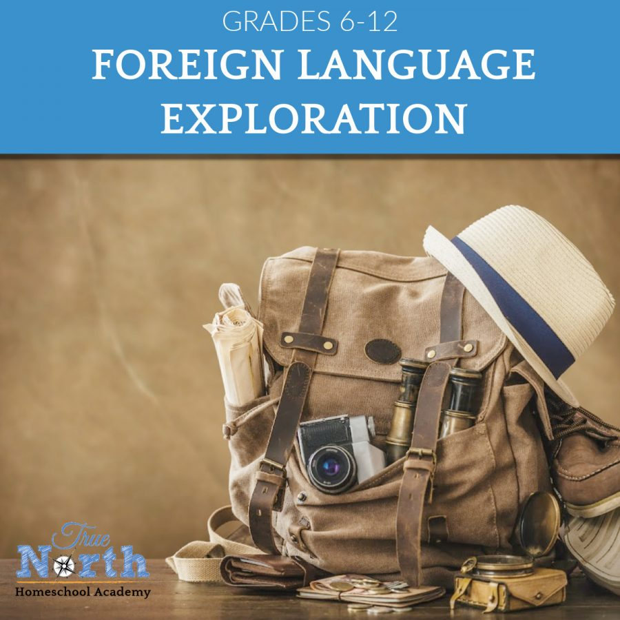 Foreign Language Exploration Online Class for grades 6 through 12th