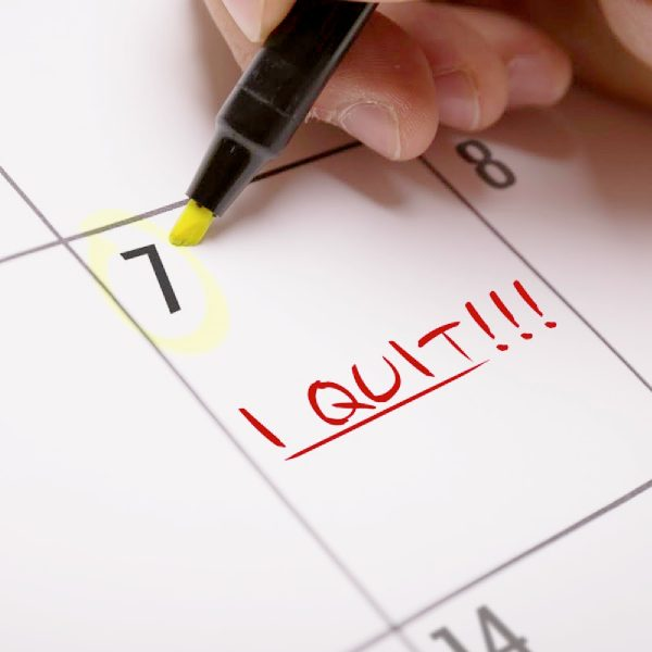 Strategic Quitting Blog Post. I quit calendar note.