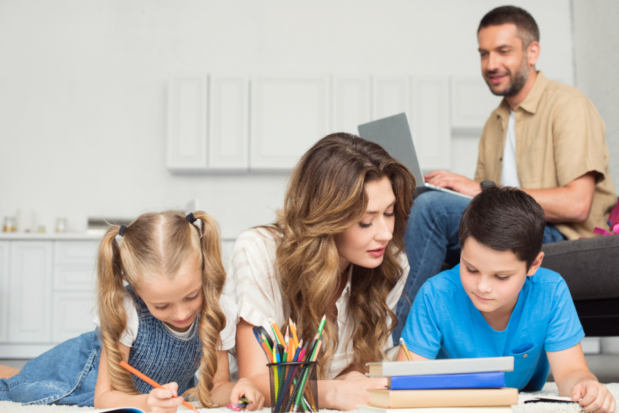 True North Homeschool Academy Family learning together